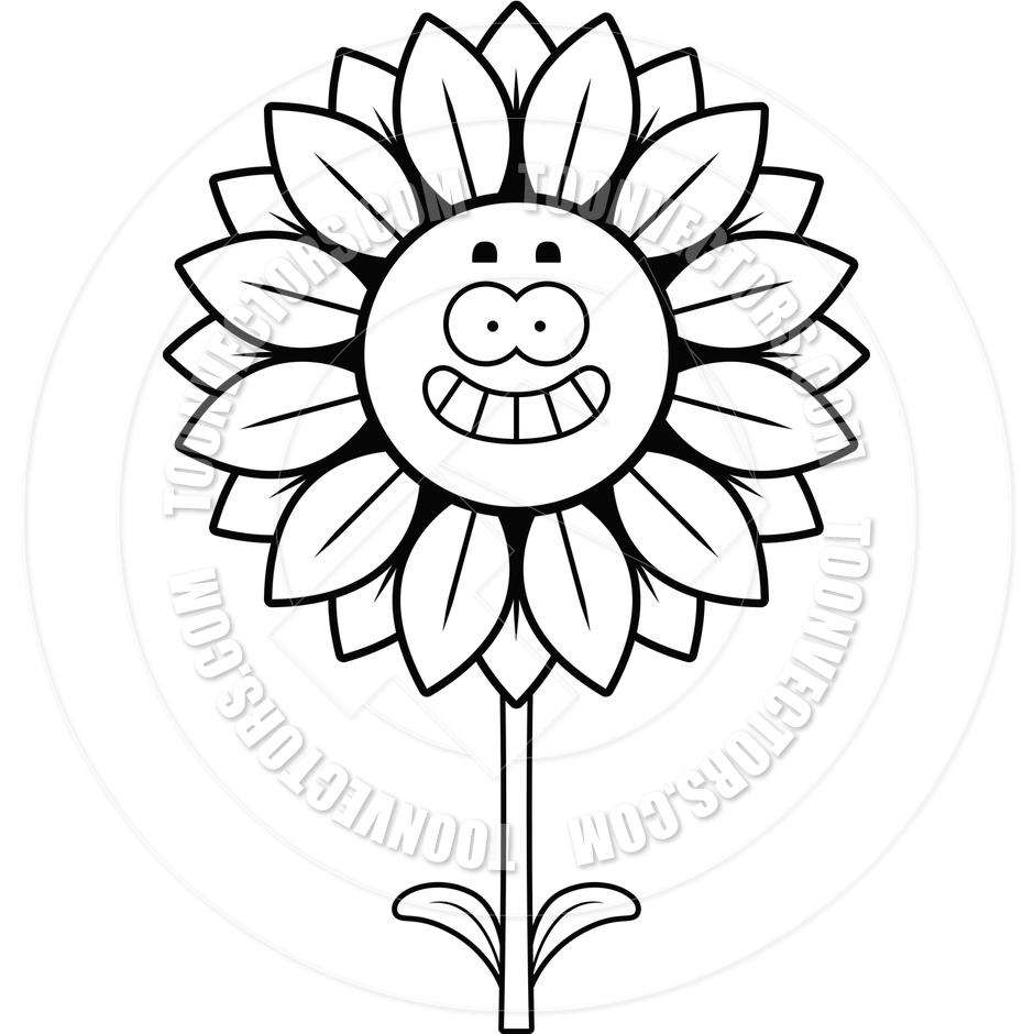 940x940 Czeshop Images Sunflower Black And White Clipart