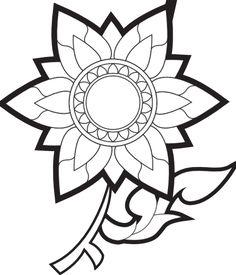 236x275 Flower Outline Clip Art