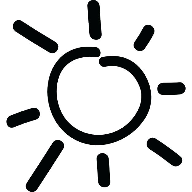 626x626 Sun Clipart Black And White Sun Clip Art Viewing Gallery Fashion