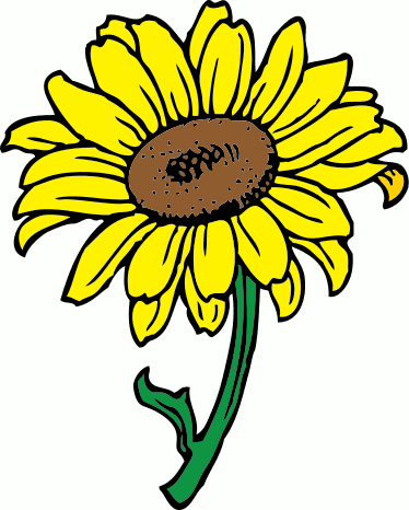 374x466 Sunflower Clip Art Free Printable Clipart 4