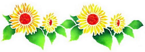 504x181 Free Sunflower Border Clipart Image