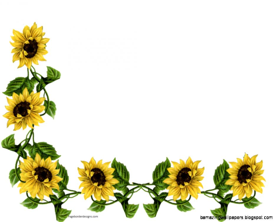 937x756 Sunflower Corner Border Clipart Amazing Wallpapers