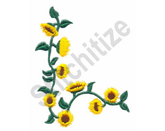 340x270 Sunflower Border Etsy
