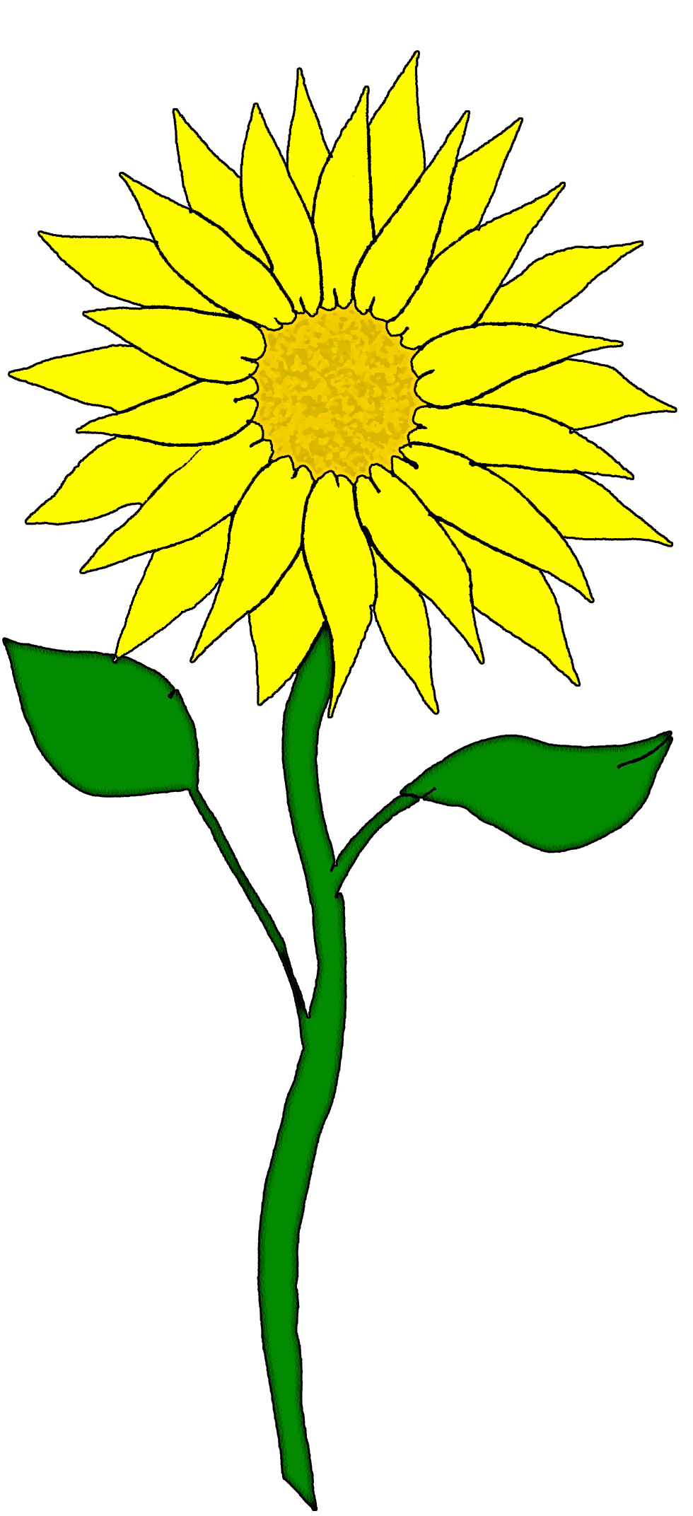 980x2144 Sunflower Border Clipart Free Images