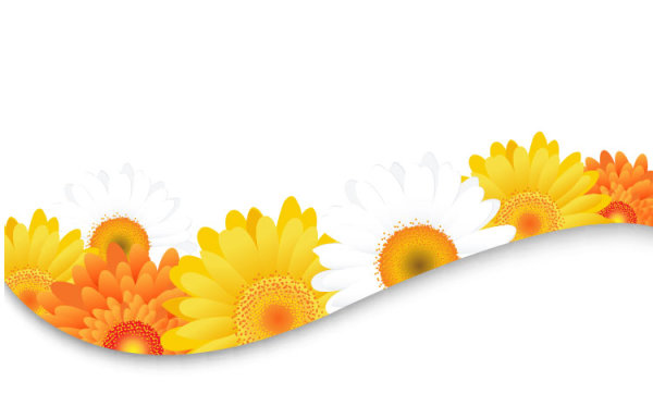 600x384 Sunflower Elements Background Clipart Panda