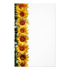 236x236 Free Sunflower Borders