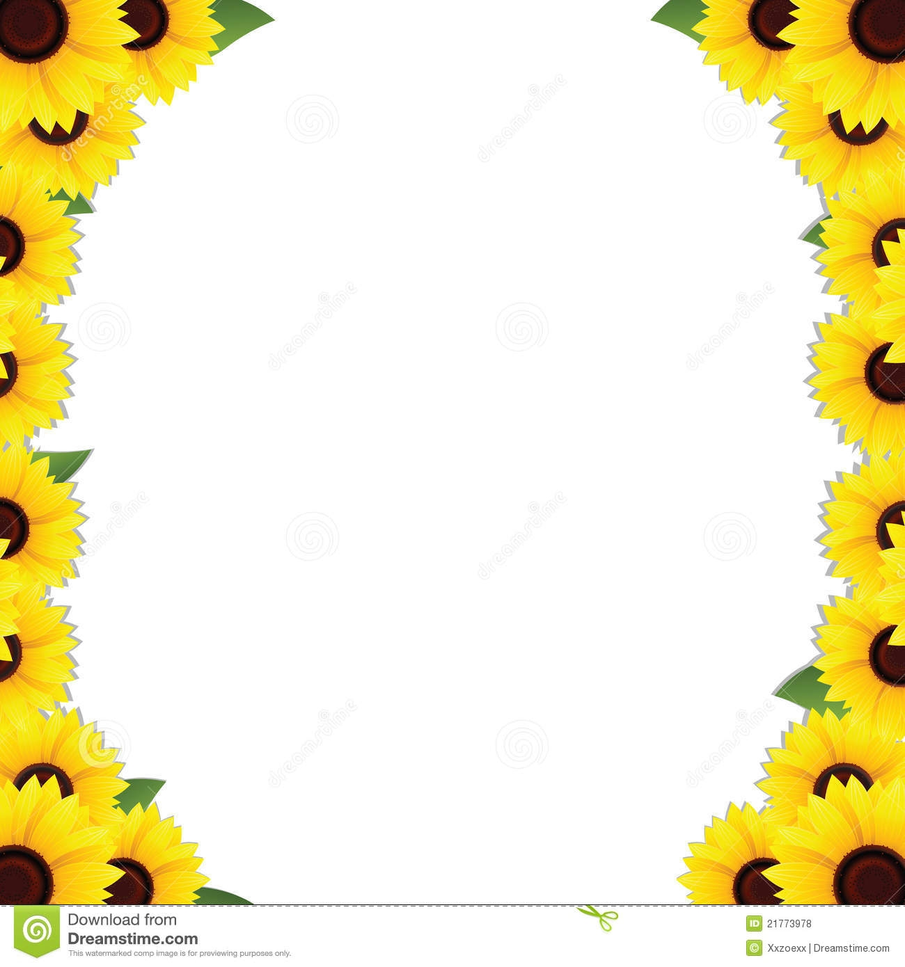 1300x1390 Free Sunflower Clipart Borders