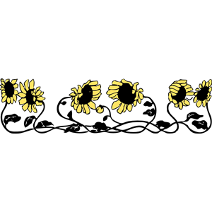 300x300 Sunflower Border Clipart, Cliparts Of Sunflower Border Free