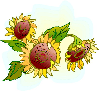 410x374 Free Sunflower Border Clipart Image