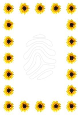 279x400 Free Sunflower Clipart Borders