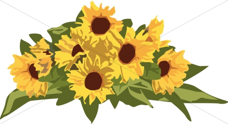 776x424 Golden Sunflower Page Top Flower Borders
