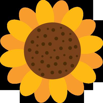 407x407 My Free Clip Art Of A Cute Yellow Sunflower Sweet Clip Art