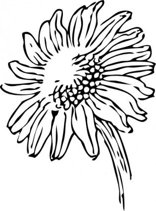 315x425 Sunflower Border Clip Art