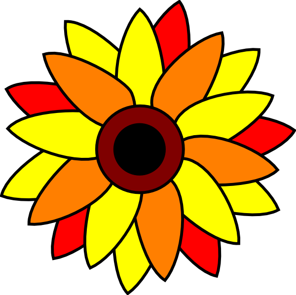 600x598 Sunflower Tatto Clip Art