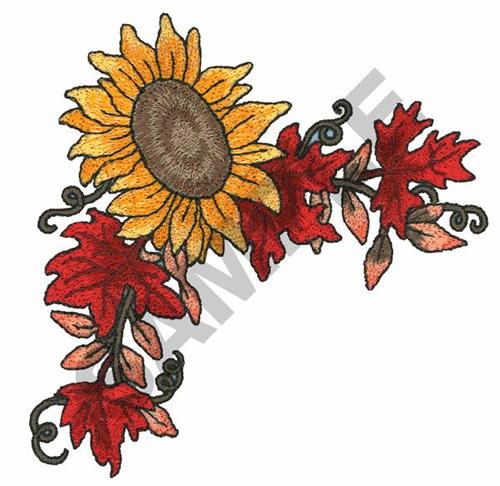 500x486 Sunflower Corner Border Embroidery Design Annthegran