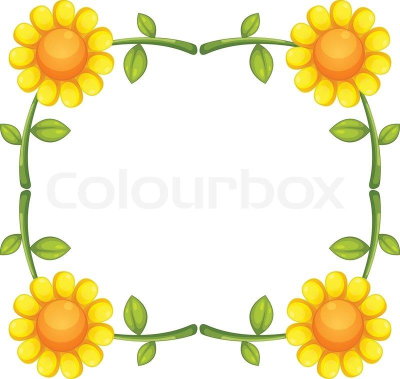800x758 Sunflower Stock Vector Colourbox