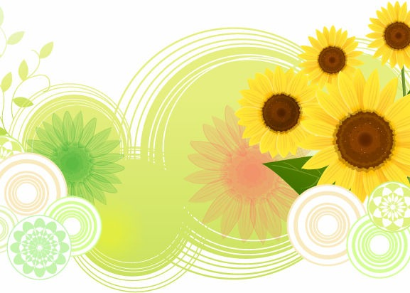577x412 Sunflower Abstract Vector Illustration Free Vector Graphics