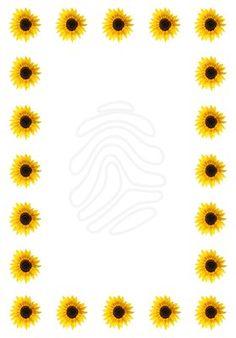 236x338 Sunflower Border Clip Art Frame Golden Sunflowers Golden