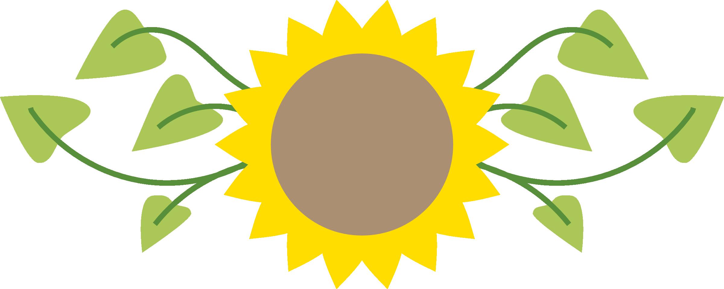 2400x960 Sunflower Border Clipart