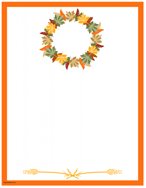 467x600 Thanksgiving Border Printables Many Designs Available