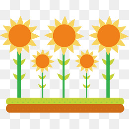 260x260 Cartoon Sunflower Vector, Sun Flower, Cartoon Watercolor Painting