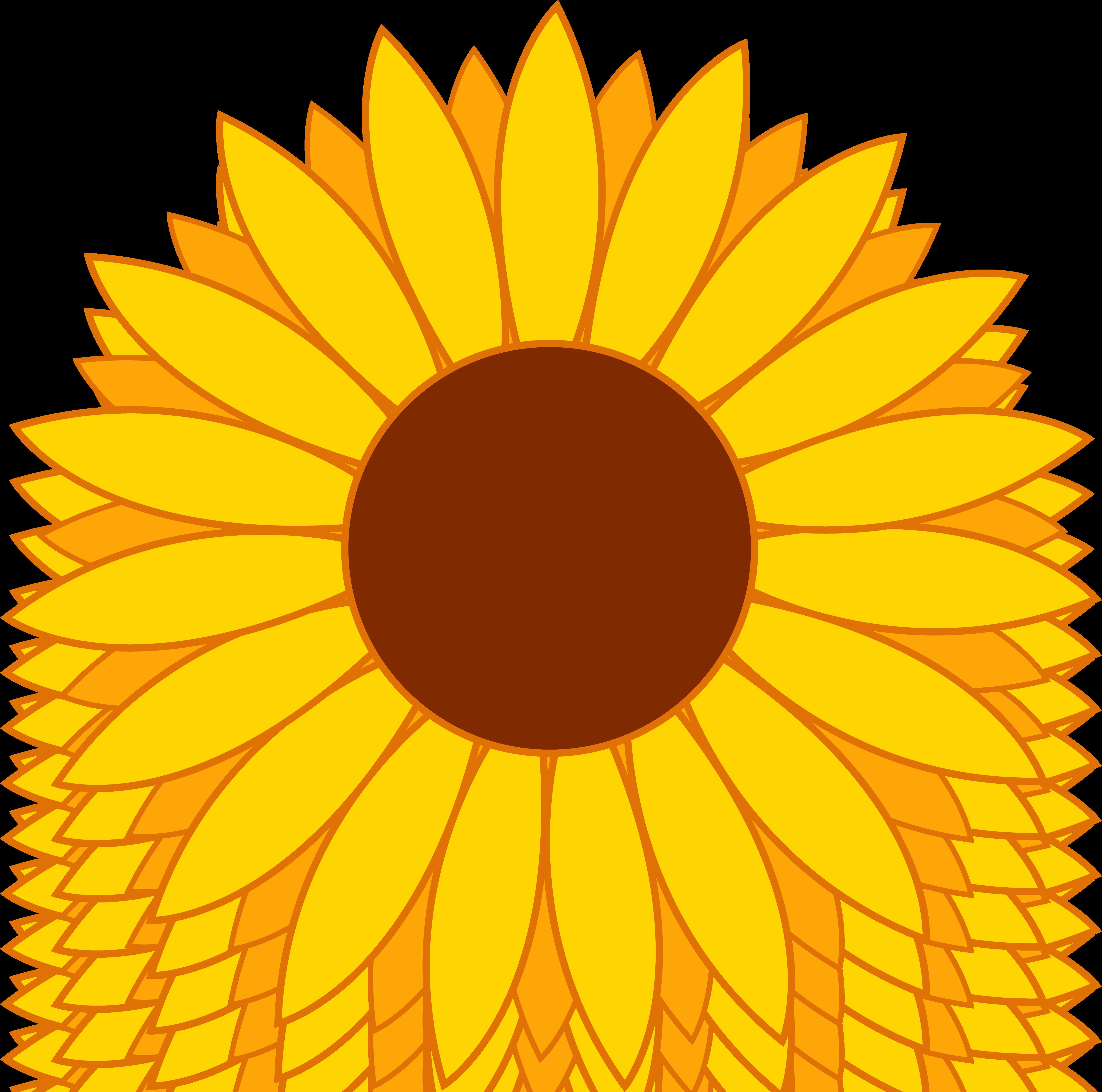 5110x5064 Sunflower Clip Art Free Printable Clipart 4