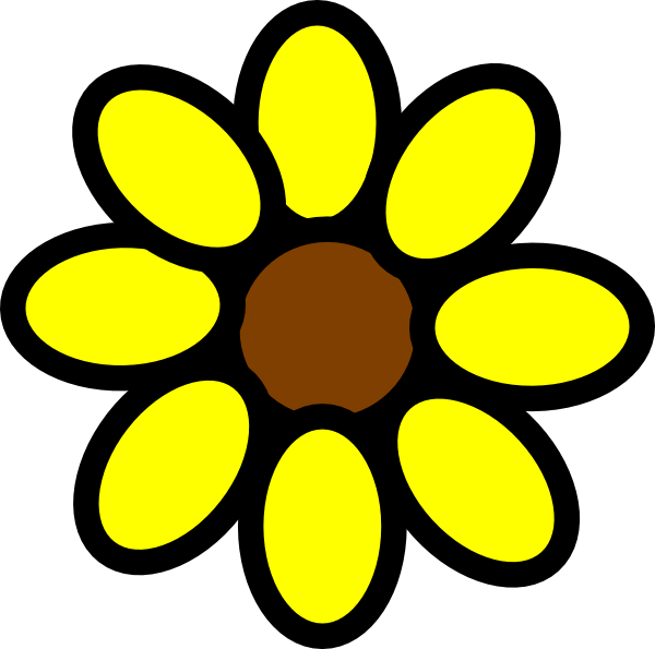 600x595 Sunflower clip art pictures free clipart images