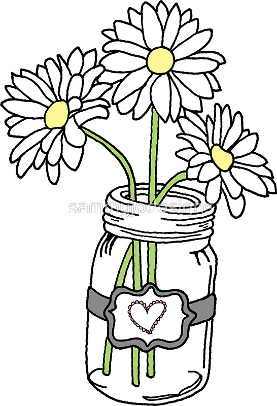 546x800 Mason Jar With Sunflowers Stickers By Sammyjodesigns Redbubble