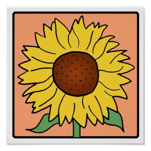 512x512 Free Sunflower Garden Clipart Image
