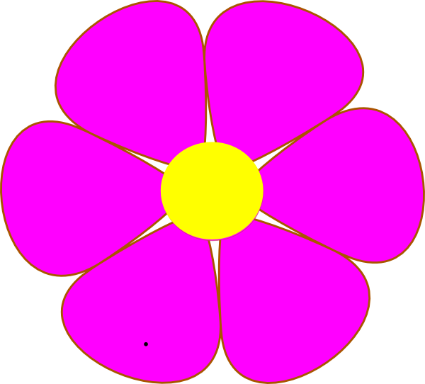 600x542 Pink Clipart Sunflower