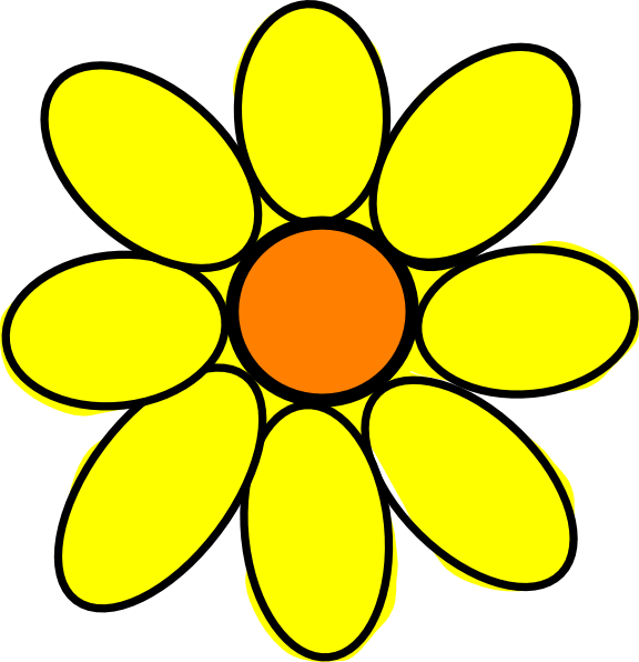 576x596 Sunflower Clip Art