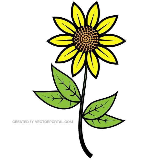 660x660 Sunflower Clip Art Free Printable Clipart 2 Clipartix 5
