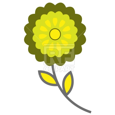 400x400 Symbolic Flower Icon Royalty Free Vector Clip Art Image