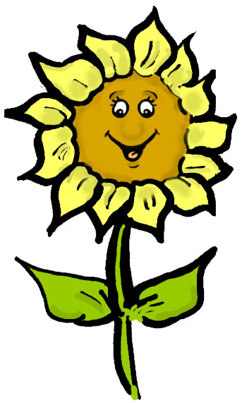 343x571 Free Happy Sunflower Clipart Image