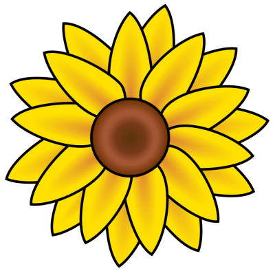 400x394 Free Sunflower Clipart