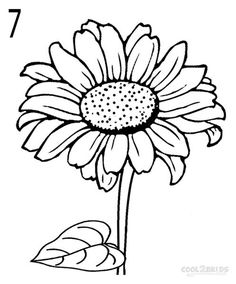 236x284 How To Draw A Sunflower Sunflowers, Drawings And Drawing Ideas