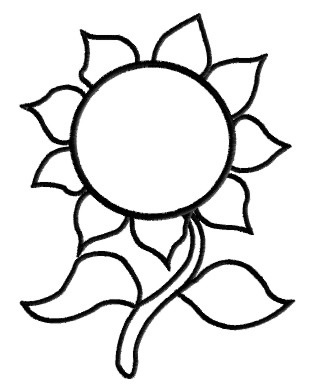 331x391 Sunflower Outline Clipart
