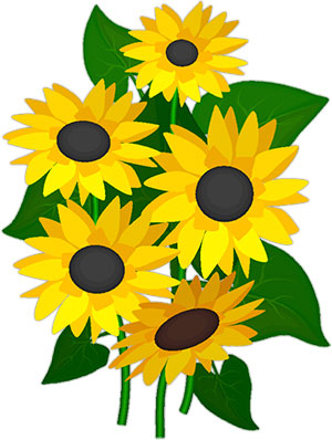 300x398 Pretty Clipart Sunflower