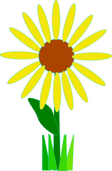390x596 Simple Yellow Flower Clip Art