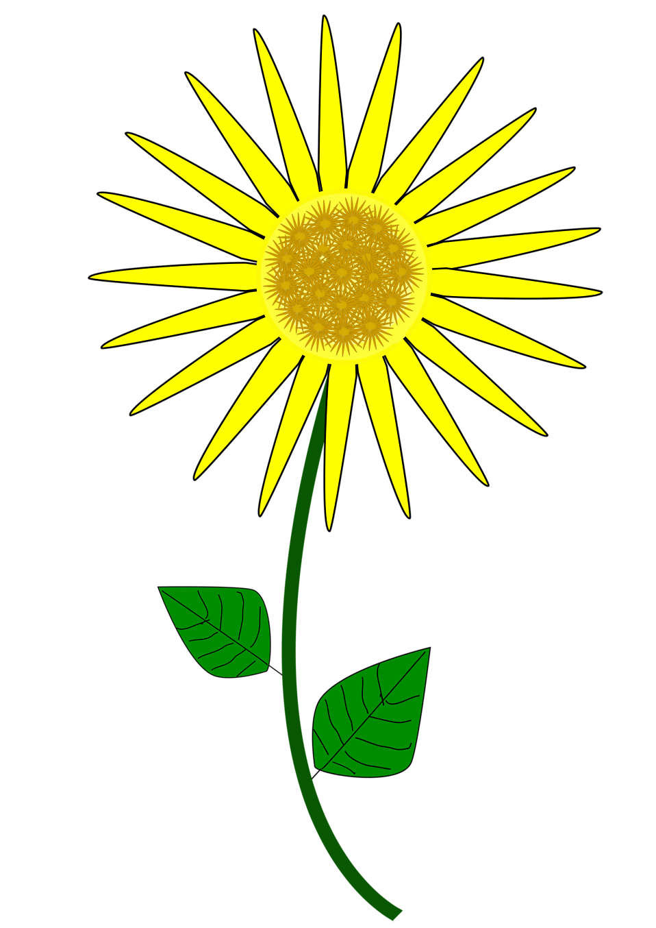 958x1354 Sunflower August Clipart, Explore Pictures