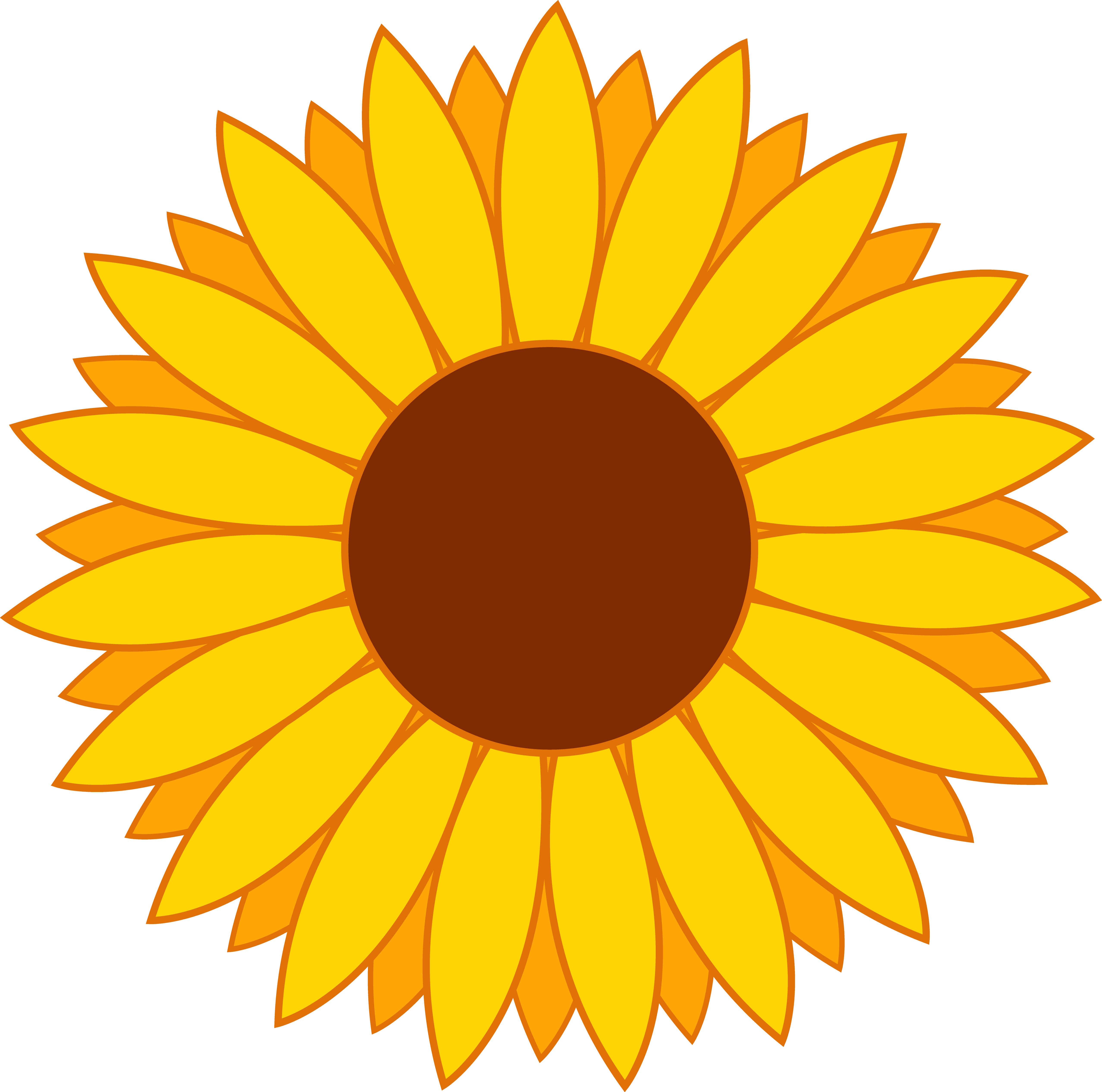 5110x5064 Sunflower Clip Art Free Printable Clipart 3