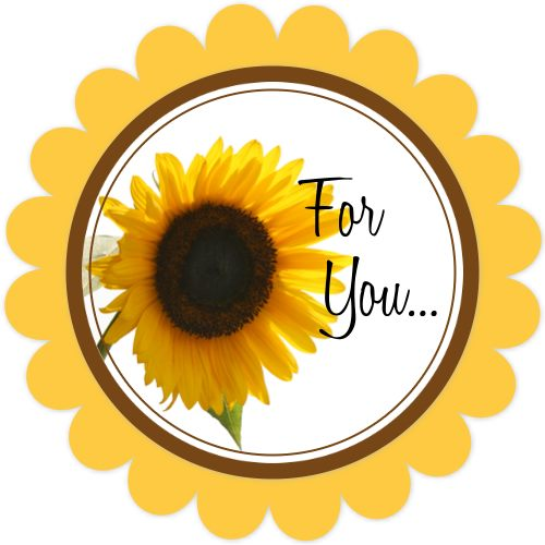 500x500 Free Sunflower Printable Gift Tags, Summer Gift Tags