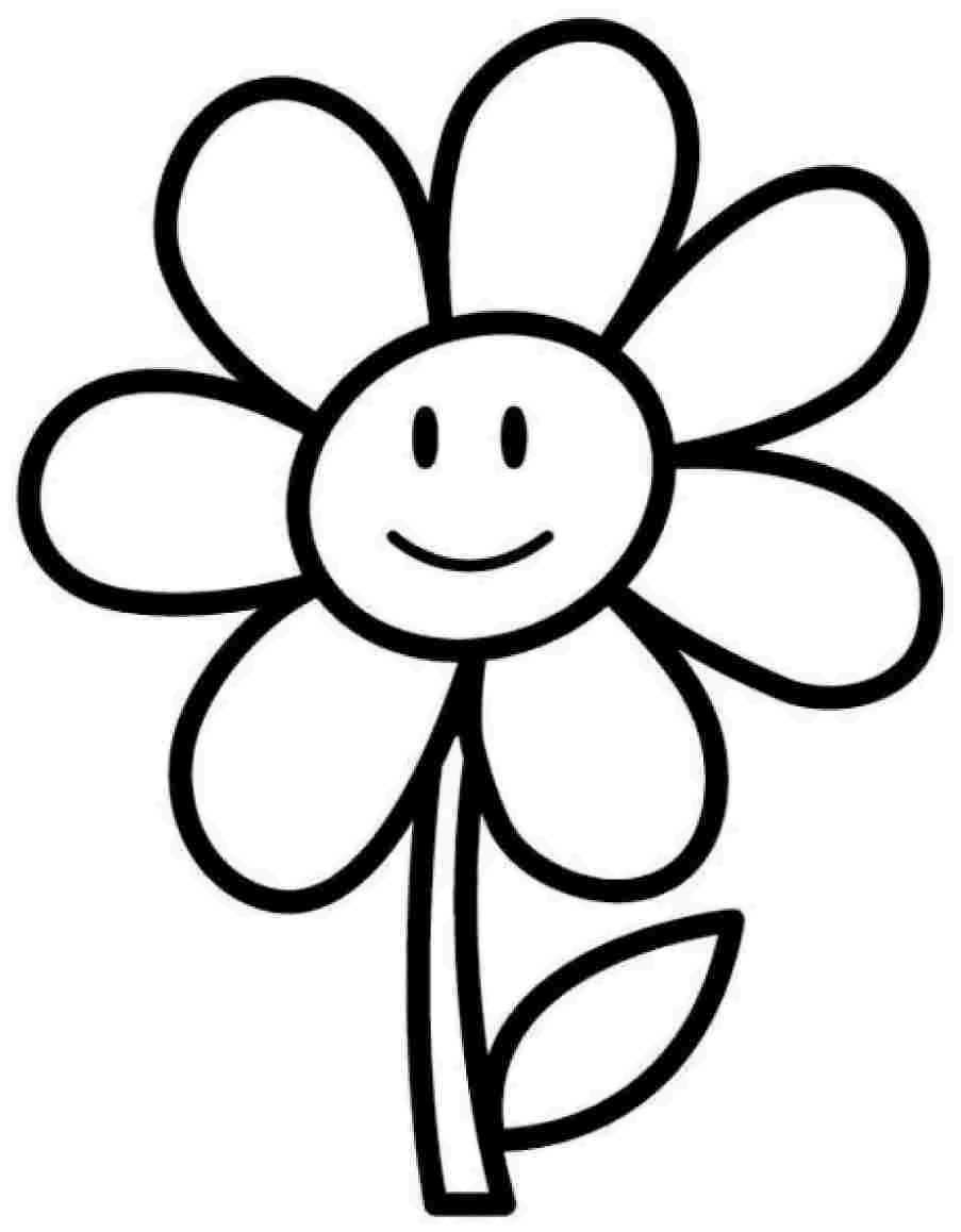 903x1158 Nature Sunflower Coloring Page Floral Color Flower Design