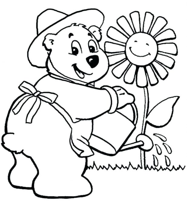 618x664 Sunflower Activities Free Printable Coloring Page Sunflower