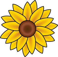236x235 Free Printable Sunflower Stencils Sunflower Clip Art