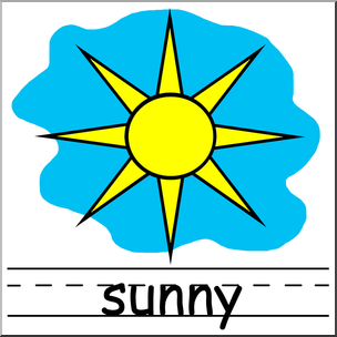 304x304 Clip Art Weather Icons Sunny Color Labeled I Abcteach