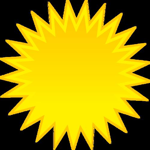 500x500 Colored Symbol For Sunny Sky Vector Clip Art Public Domain Vectors