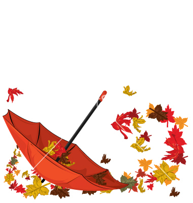 380x400 Fall Weather Clipart