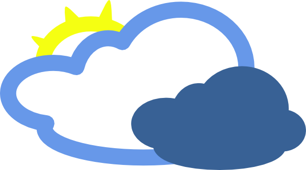 600x335 Heavy Clouds And Sun Weather Symbol Clip Art