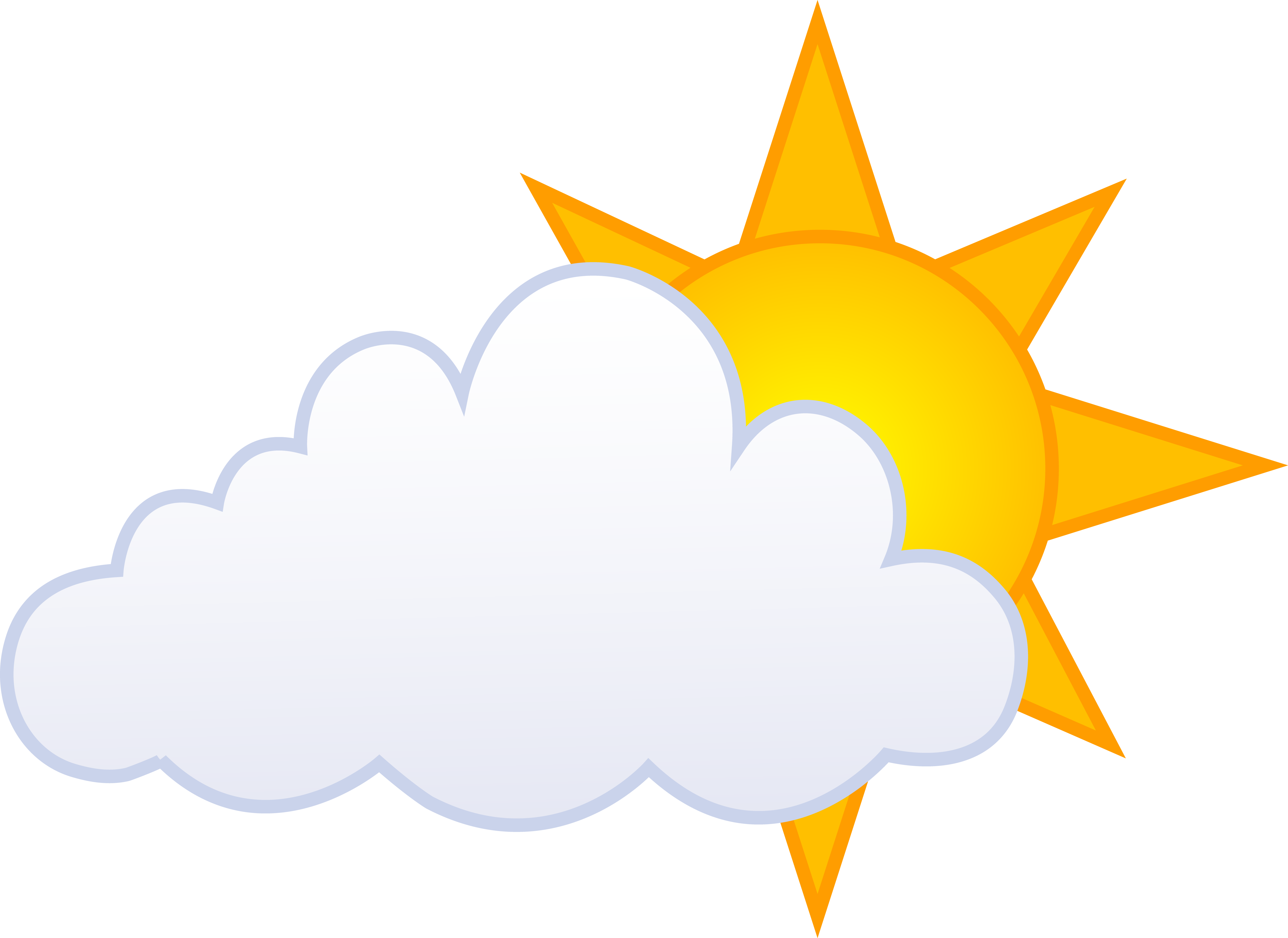 7553x5503 Partly Cloudy Weather Clip Art Clipart Free To Use Clip Art